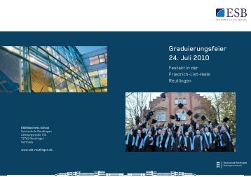 Graduierungsfeier 24. Juli 2010 - ESB Business School