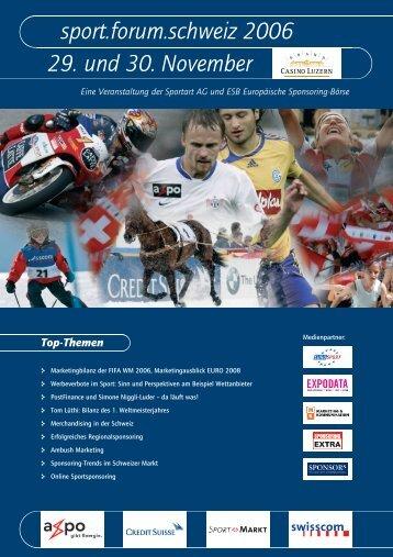 Sport.forum.schweiz 2006 29. Und 30. November - ESB ...