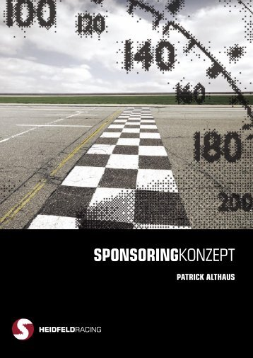 SPONSORINGKONZEPT - Patrick Althaus