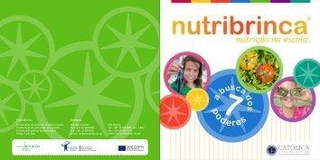 Folheto do Projecto Nutribrinca - Escola Superior de Biotecnologia ...