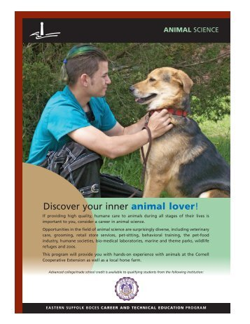 Discover your inner animal lover! - Eastern Suffolk BOCES