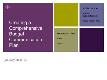Creating a Comprehensive Communication Plan - Syntax