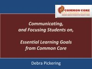 Communicating, and Focusing Students on, Essential Learning ...