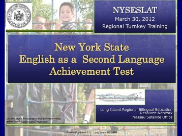 New York State English as a Second Language Achievement Test