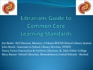 Presentation on Common Core Standards, NYLA Conference ...