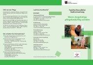 Wenn Angehörige pflegebedürftig werden - Stadt Aschaffenburg