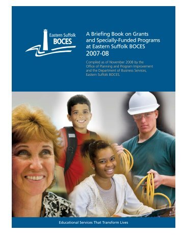 Grant/Specially-Funded Briefing Book 2007-2008 - Eastern Suffolk ...