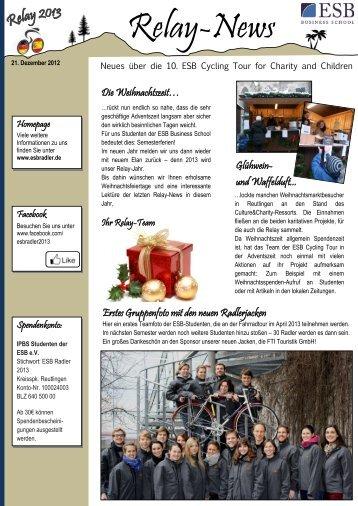 Relay News: 21. Dezember 2012 - ESB-Radler