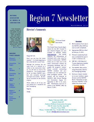 Region 7 Newsletter - Engineering Safety Consultants, Inc.