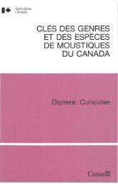 cles des genres et des especes de moustiques du canada