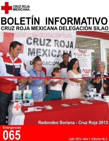 Sengunda Edición del Boletín Informativo de Cruz Roja Mexicana Delegación Silao