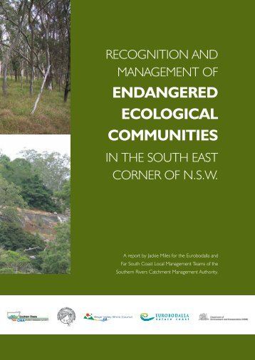 Recognition and Management of Endangered Ecological ...