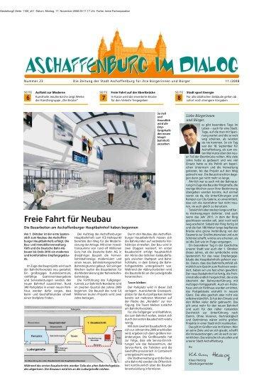 Ausgabe November 2008 (PDF, 2 MB) - Stadt Aschaffenburg