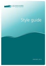 Corporate Style Guide - Eurobodalla Shire Council