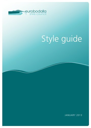 Corporate Style Guide - Eurobodalla Shire Council