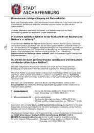 Hinweise zum richtigen Umgang mit ... - Stadt Aschaffenburg