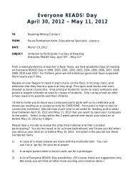 Everyone READS! Day April 30, 2012 – May 11, 2012 - ESC Region VI