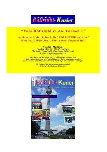 Vom Rollstuhl in die Formel 1 - Escales-Verlag