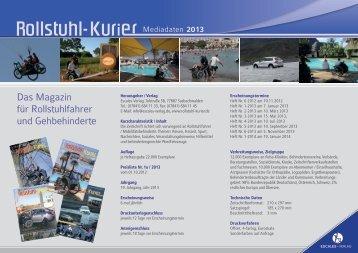 Mediadaten Rollstuhl-Kurier 2013 - Escales-Verlag