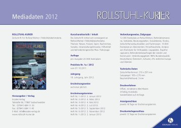 Mediadaten 2012 - Escales-Verlag