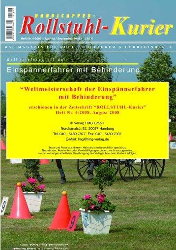 Einspännerfahrer mit Behinderung - Escales-Verlag