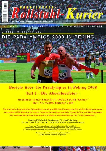 Teil 5 Paralympics 2008 – Die Abschlussfeier (PDF ... - Escales-Verlag