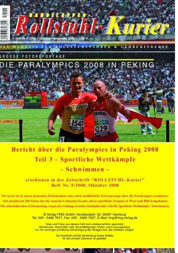 DIE PARALYMPICS 2008 IN PEKING - Escales-Verlag