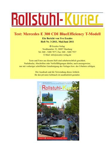 Rollstuhl-Kurier KurierKurier Rollstuhl-Kurier - Escales-Verlag