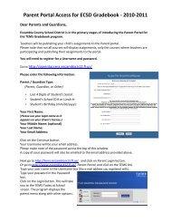 Parent Portal Access for ECSD Gradebook - the Escambia County ...