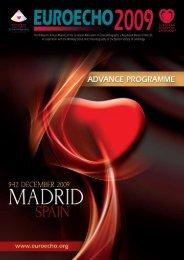 EUROECHO 2009 - Advance Programme - European Society of ...