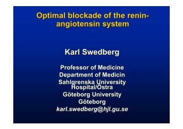 Optimal blockade of the renin-angiostensin-aldosterone system
