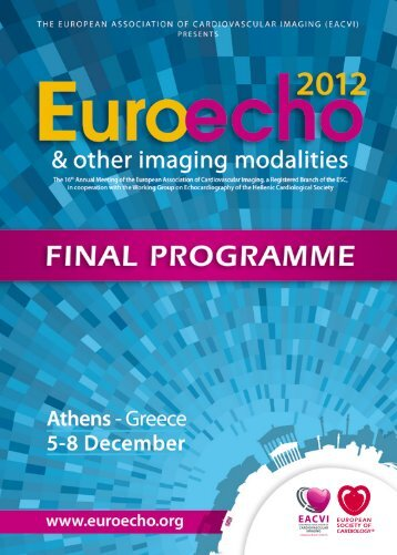 Final Programme - European Society of Cardiology