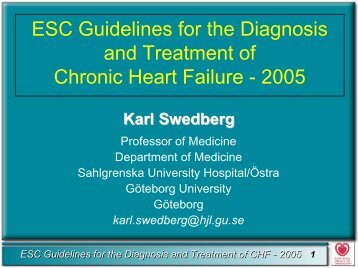 Guidelines in chronic heart failure