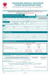 Educational Programmes Course Registration Form - European ...