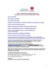 Dr Raad Mohiaddin - European Society of Cardiology