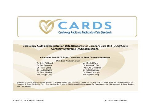 Cardiology Audit and Registration Data Standards - European ...