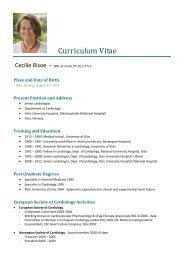 CV RISOE Cecilie - European Society of Cardiology