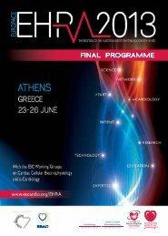 EHRA EUROPACE 2013 - European Society of Cardiology