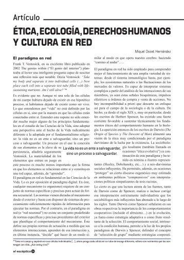 ÉTICA, ECOLOGÍA, DERECHOS HUMANOS Y CULTURA EN RED ...