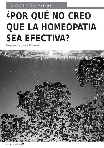 Por qué no creo que la homeopatía sea efectiva? en PDF