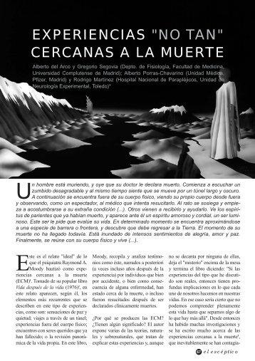 """EXPERIENCIAS """"NO TAN"""" CERCANAS A LA MUERTE"""