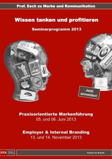 Wissen tanken und profitieren - ESCH. The Brand Consultants