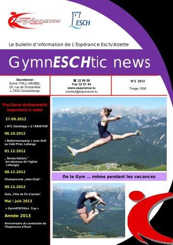 GymnESCHtic news - N°2 - Esch sur Alzette