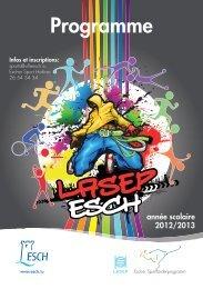 Programme LASEP 2012/2013 - Esch sur Alzette