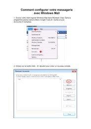 Configuration Mail Windows Vista