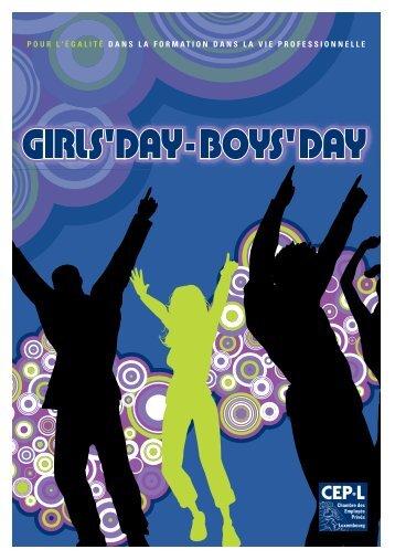 """Brochure """"Girls' Day Boys' Day"""" - Esch sur Alzette"""