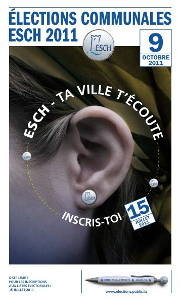 Dépliant de la campagne pour les élections 2011 - Esch sur Alzette