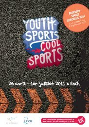 Brochure Youth Sports - Esch sur Alzette