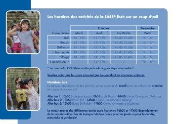 Brochure LASEP - Esch sur Alzette