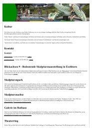 Veranstaltungen in Eschborn Kultur Kontakt ... - Stadt Eschborn